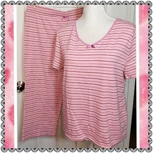 {Gilligan & O'Malley} pink striped pajamas, sz L